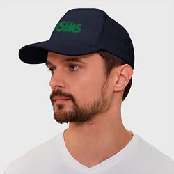 Бейсболка Sims цвета тёмно-синий — фото 1