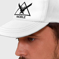 Бейсболка Noble Halo цвета белый — фото 2