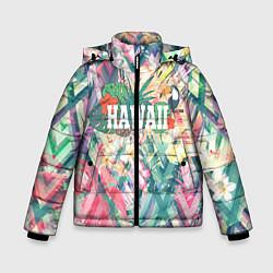 Детская зимняя куртка для мальчика с принтом Hawaii Summer, цвет: 3D-черный, артикул: 10100570906063 — фото 1