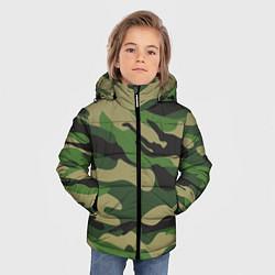 Куртка зимняя для мальчика Камуфляж: хаки/зеленый цвета 3D-черный — фото 2