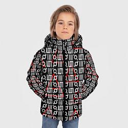Детская зимняя куртка для мальчика с принтом 30 STM: Symbol Pattern, цвет: 3D-черный, артикул: 10105693106063 — фото 2