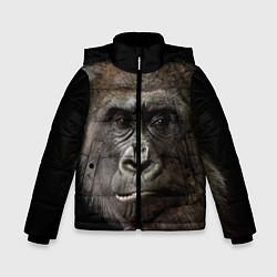 Детская зимняя куртка для мальчика с принтом Глаза гориллы, цвет: 3D-черный, артикул: 10105697906063 — фото 1