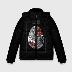 Куртка зимняя для мальчика Twenty one pilots: brain цвета 3D-черный — фото 1