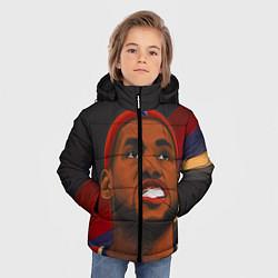 Куртка зимняя для мальчика LeBron Smile цвета 3D-черный — фото 2