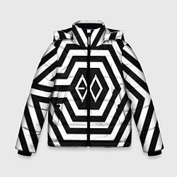Детская зимняя куртка для мальчика с принтом EXO Geometry, цвет: 3D-черный, артикул: 10106714006063 — фото 1