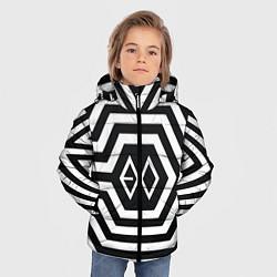Куртка зимняя для мальчика EXO Geometry цвета 3D-черный — фото 2