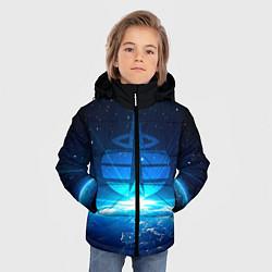 Куртка зимняя для мальчика Космические войска цвета 3D-черный — фото 2