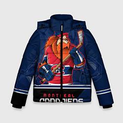 Детская зимняя куртка для мальчика с принтом Montreal Canadiens, цвет: 3D-черный, артикул: 10106980106063 — фото 1
