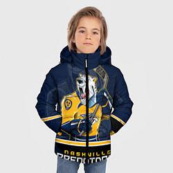 Куртка зимняя для мальчика Nashville Predators цвета 3D-черный — фото 2