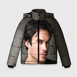 Куртка зимняя для мальчика Ian Somerhalder цвета 3D-черный — фото 1