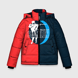 Куртка зимняя для мальчика Biathlon worldcup цвета 3D-черный — фото 1