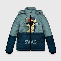 Детская зимняя куртка для мальчика с принтом My SWAG Pony, цвет: 3D-черный, артикул: 10108221806063 — фото 1