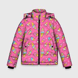 Куртка зимняя для мальчика Мороженка цвета 3D-черный — фото 1