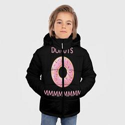 Куртка зимняя для мальчика Donuts цвета 3D-черный — фото 2