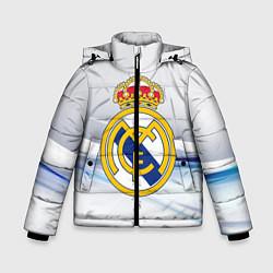 Куртка зимняя для мальчика Реал Мадрид цвета 3D-черный — фото 1