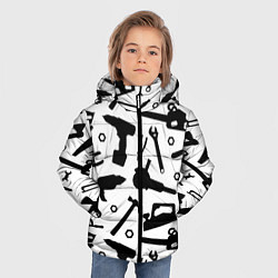 Куртка зимняя для мальчика Строитель 7 цвета 3D-черный — фото 2