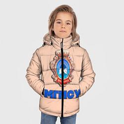 Куртка зимняя для мальчика МГМСУ цвета 3D-черный — фото 2