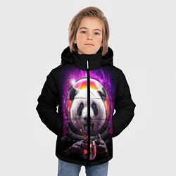 Куртка зимняя для мальчика Panda Cosmonaut цвета 3D-черный — фото 2