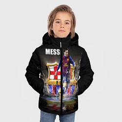 Детская зимняя куртка для мальчика с принтом Messi FCB, цвет: 3D-черный, артикул: 10112080706063 — фото 2