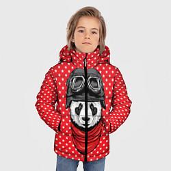Куртка зимняя для мальчика Панда пилот цвета 3D-черный — фото 2
