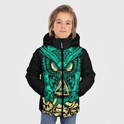 Куртка зимняя для мальчика Bring Me The Horizon: Owl цвета 3D-черный — фото 2