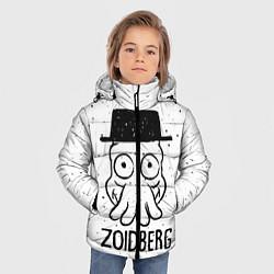 Детская зимняя куртка для мальчика с принтом Zoidberg, цвет: 3D-черный, артикул: 10113802706063 — фото 2