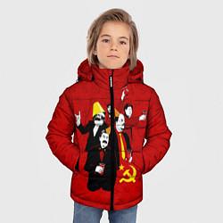 Куртка зимняя для мальчика Communist Party цвета 3D-черный — фото 2