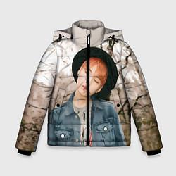 Детская зимняя куртка для мальчика с принтом Min Yoon Gi, цвет: 3D-черный, артикул: 10114633406063 — фото 1