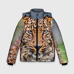 Куртка зимняя для мальчика Грустный леопард цвета 3D-черный — фото 1