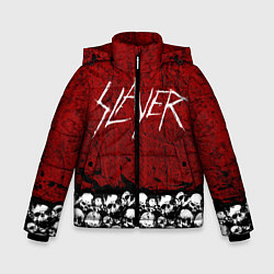 Детская зимняя куртка для мальчика с принтом Slayer Red, цвет: 3D-черный, артикул: 10114909706063 — фото 1