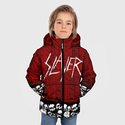 Куртка зимняя для мальчика Slayer Red цвета 3D-черный — фото 2