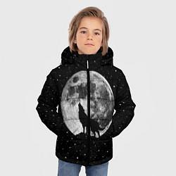 Куртка зимняя для мальчика Лунный волк цвета 3D-черный — фото 2