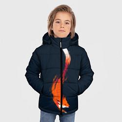Куртка зимняя для мальчика Хитрая лисичка цвета 3D-черный — фото 2
