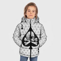 Куртка зимняя для мальчика Смертельный туз цвета 3D-черный — фото 2