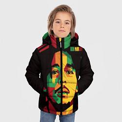 Куртка зимняя для мальчика Боб Марли цвета 3D-черный — фото 2