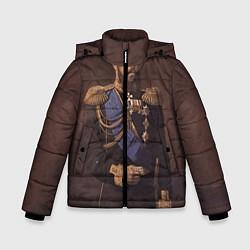 Детская зимняя куртка для мальчика с принтом Александр III Миротворец, цвет: 3D-черный, артикул: 10116754406063 — фото 1