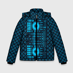 Детская зимняя куртка для мальчика с принтом DJ Vinyl, цвет: 3D-черный, артикул: 10117481306063 — фото 1