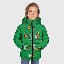 Детская зимняя куртка для мальчика с принтом Боевая морковь, цвет: 3D-черный, артикул: 10117527206063 — фото 2
