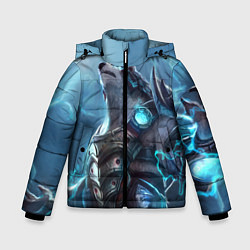 Куртка зимняя для мальчика Вербер цвета 3D-черный — фото 1