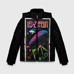 Куртка зимняя для мальчика Led Zeppelin: Angel Poster цвета 3D-черный — фото 1
