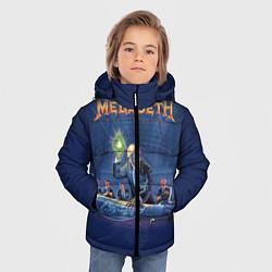 Детская зимняя куртка для мальчика с принтом Megadeth: Rust In Peace, цвет: 3D-черный, артикул: 10118735606063 — фото 2