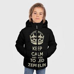 Куртка зимняя для мальчика Keep Calm & Led Zeppelin цвета 3D-черный — фото 2