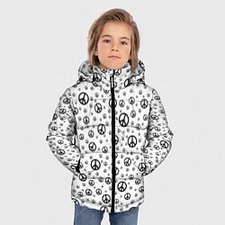 Куртка зимняя для мальчика Peace Symbol цвета 3D-черный — фото 2