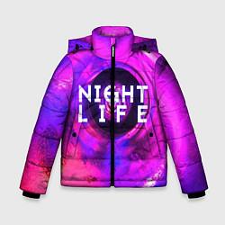 Куртка зимняя для мальчика Night life цвета 3D-черный — фото 1