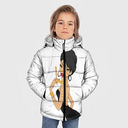 Куртка зимняя для мальчика LADY BARBER цвета 3D-черный — фото 2