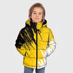 Детская зимняя куртка для мальчика с принтом Имперский флаг России, цвет: 3D-черный, артикул: 10124379806063 — фото 2
