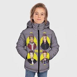 Куртка зимняя для мальчика Skam Faces цвета 3D-черный — фото 2
