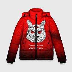 Куртка зимняя для мальчика What they seem цвета 3D-черный — фото 1