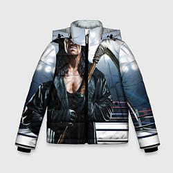 Куртка зимняя для мальчика Гробовщик 1 цвета 3D-черный — фото 1