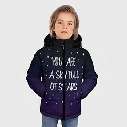 Куртка зимняя для мальчика Coldplay: Night Sky цвета 3D-черный — фото 2